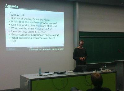 Geertjan stellt Netbeans RCP vor.